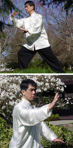 Anthony practicing taiji